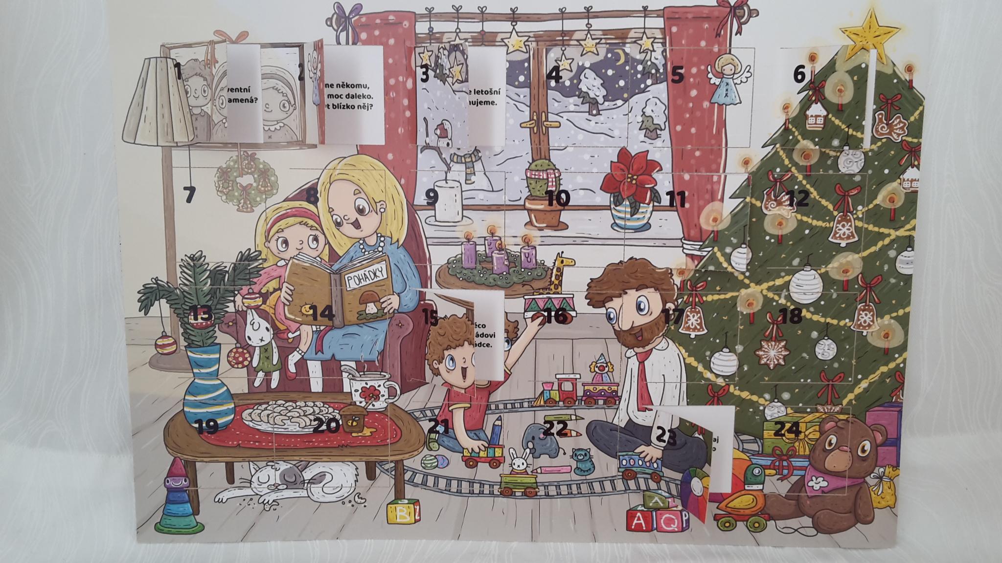 rodinný adventní kalendář