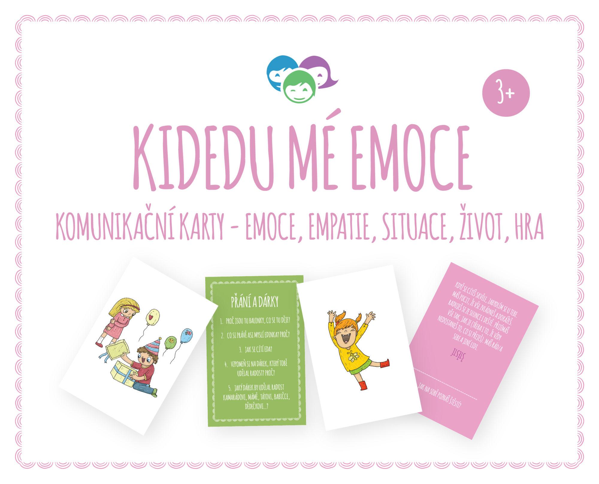 Kidedu Mé Emoce - komunikační karty, pomůckohra